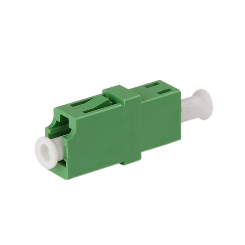 LC Simplex Singlemode Adapter with Flange APC Polishing Fiber Optic Adapter