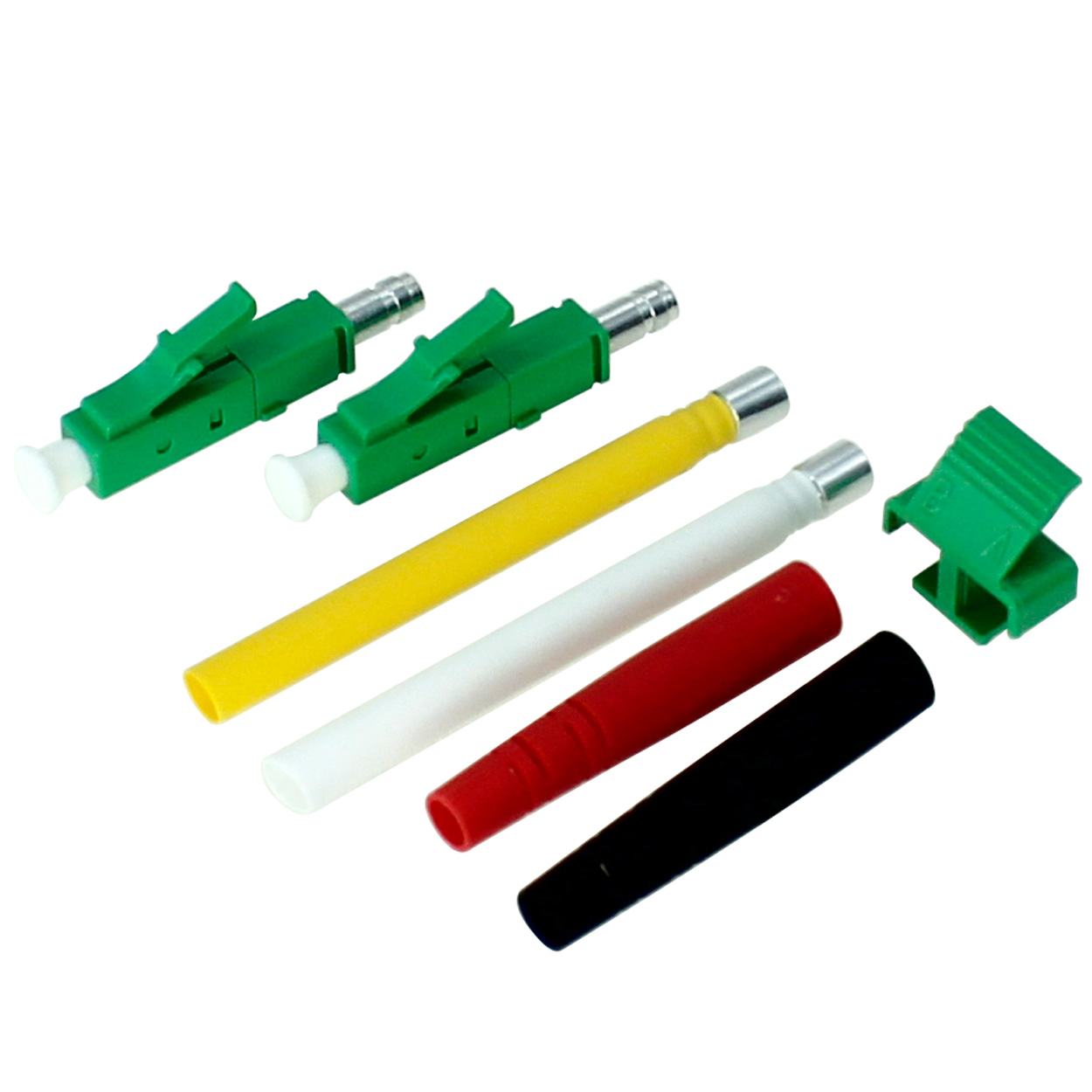 LC/APC Single Mode 9/125um fiber optic connector in Green Color