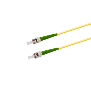 Fiber-Optic-Patch-Cable-ST-ST-9-125-Singlemode-APC-Simplex-Fiber-Jumper