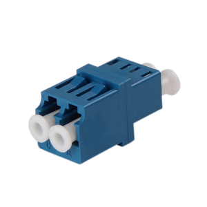 Single mode LC/UPC Duplex Fiber Optic Adapter with Flange-Teleweaver